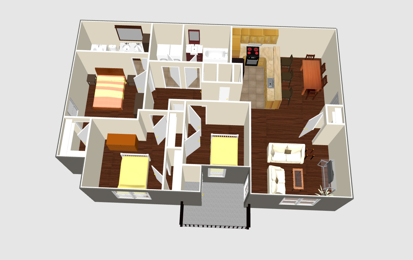 Floor Plans » Park Place Apartments | New Albany, Mississippi\'s ...